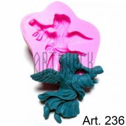 Силиконовый молд 3D (вайнер), ангел, размер 7 х 7.8 см., толщина 1.4 см., REGINA