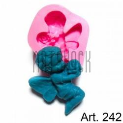 Силиконовый молд 3D (вайнер), ангел с цветком, размер 6 х 7 см., толщина 1.8 см., REGINA