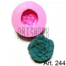 Силиконовый молд 3D (вайнер), цветок, диаметр 5.5 см., толщина 1.7 см., REGINA