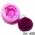 Силиконовый молд 3D (вайнер), бутон розы, диаметр 4.8 см., толщина 2.1 см., REGINA