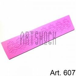 Силиконовый молд 3D (вайнер), декор бордюры-1, размер 23.7 х 5.5 см., толщина 0.4 см., REGINA