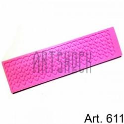 Силиконовый молд 3D (вайнер), сердца бордюры-1, размер 19.2 х 5.2 см., толщина 0.5 см., REGINA