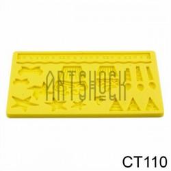 Силиконовый молд 3D (вайнер), праздничный, размер 12 х 18.5 см., толщина 0.7 см.