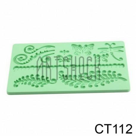Силиконовый молд 3D (вайнер), папоротник, размер 12 х 18.5 см., толщина 0.7 см.
