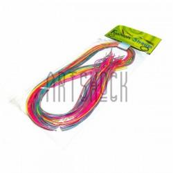 """Набор трубочек для плетения """"Скубиду"""", цветные с неоновой нитью, длина 100 см., 20 штук"""