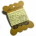 """Лента декоративная хлопковая с принтом, """"Светло-жёлтая"""", ширина 10 мм., длина 2 м., Hand Made"""