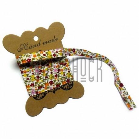 Лента декоративная хлопковая с полноцветной печатью, ширина 10 мм., длина 1 м., Hand Made