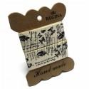 "Лента декоративная хлопковая с принтом, ""Бабочки"", ширина 26 мм., длина 1 м., Hand Made"