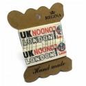 "Лента декоративная хлопковая с принтом, ""London UK"", ширина 26 мм., длина 1 м., Hand Made"