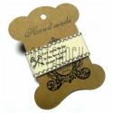 """Лента декоративная хлопковая с принтом, """"Ключи счастья"""", ширина 26 мм., длина 1 м., Hand Made"""