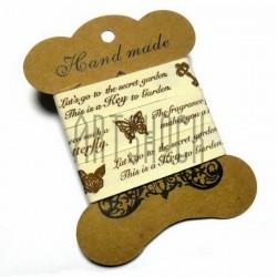 """Лента декоративная хлопковая с принтом, """"Key to Garden"""", ширина 15 мм., длина 1.5 м., Hand Made"""