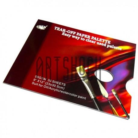 Палитра бумажная одноразовая для рисования, 36 листов, 23 х 30.5 см. купить в Киеве и Украине