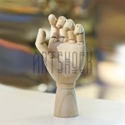 """Деревянный подвижный манекен левой кисти руки, 12"""" (30 см.), CONDA"""
