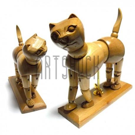 """Деревянный подвижной манекен """"Кошка"""", Phoenix"""