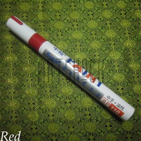 Масляный маркер - краска, red, 3 мм., SIPA