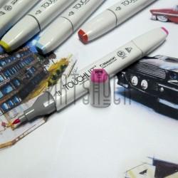 Маркер-копик TouchLiit Twin Marker, RP6 vivid pink, Maieart Art