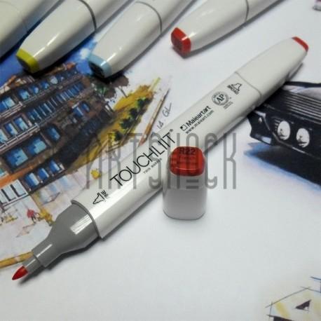 Маркер-копик TouchLiit Twin Marker, R22 french vermilion, Maieart Art
