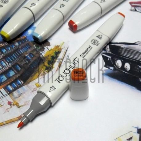 Маркер-копик TouchLiit Twin Marker, YR23 orange, Maieart Art