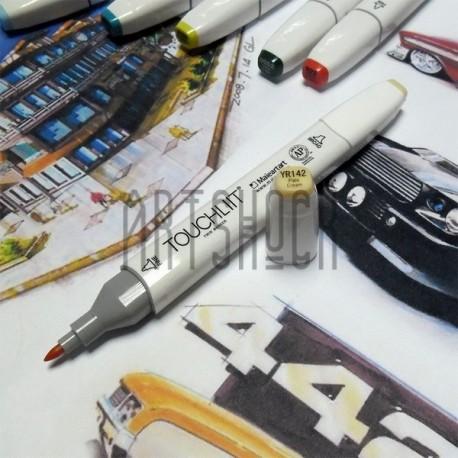 Маркер-копик TouchLiit Twin Marker, YR142 pale cream, Maieart Art