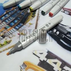 Маркер-копик TouchLiit Twin Marker, YR132 milky white, Maieart Art