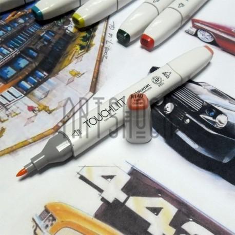 Маркер-копик TouchLiit Twin Marker, R140 light orange, Maieart Art