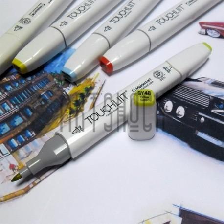 Маркер-копик TouchLiit Twin Marker, GY48 yellow green, Maieart Art