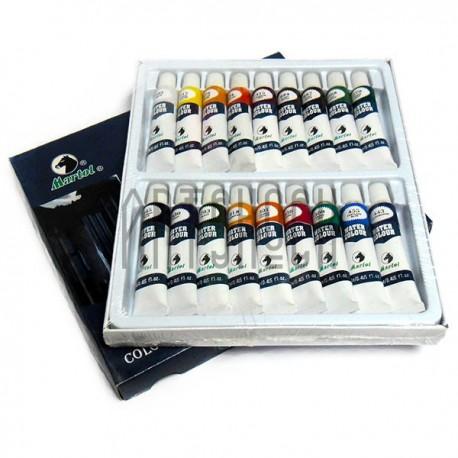 Набор художественных акварельных красок, 18 цветов по 12 мл., Martol