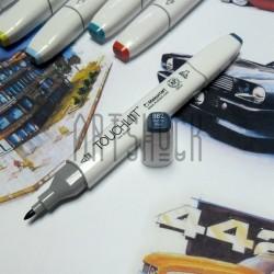 Маркер-копик TouchLiit Twin Marker, B62 marine blue, Maieart Art