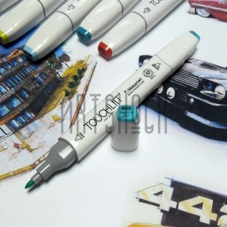Маркер-копик TouchLiit Twin Marker, B68 turquoise blue, Maieart Art