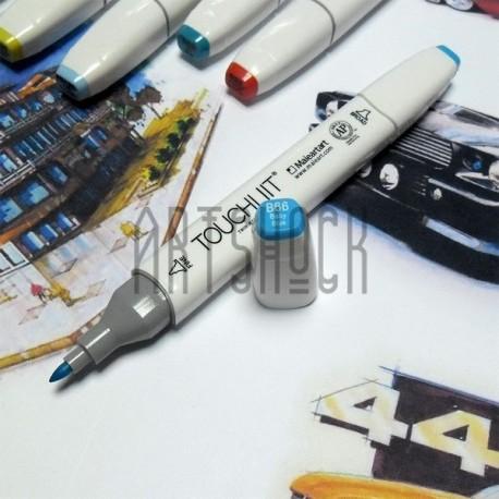 Маркер-копик TouchLiit Twin Marker, B66 baby blue, Maieart Art