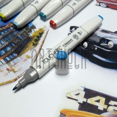Маркер-копик TouchLiit Twin Marker, B63 cerulean blue, Maieart Art