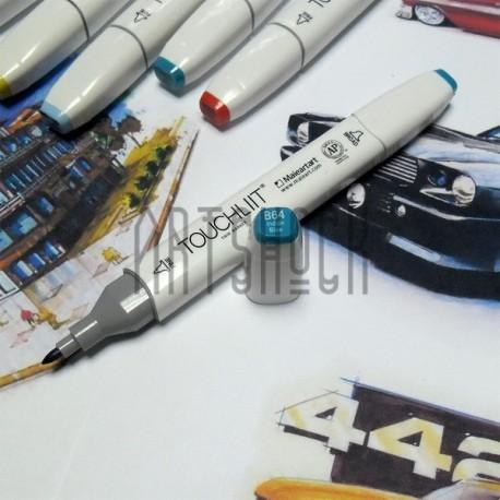 Маркер-копик TouchLiit Twin Marker, B64 indian blue, Maieart Art
