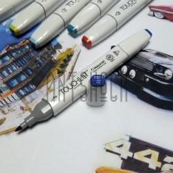 Маркер-копик TouchLiit Twin Marker, PB71 cobalt blue, Maieart Art