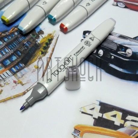 Маркер-копик TouchLiit Twin Marker, PB75 dark blue light, Maieart Art