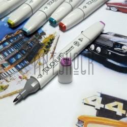 Маркер-копик TouchLiit Twin Marker, P84 pastel violet, Maieart Art