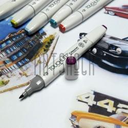 Маркер-копик TouchLiit Twin Marker, P85 vivid purple, Maieart Art