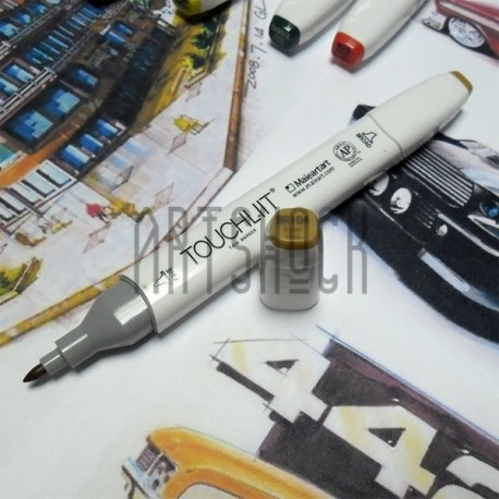 Маркер-копик TouchLiit Twin Marker, BR104 brown grey, Maieart Art