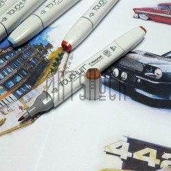 Маркер-копик TouchLiit Twin Marker, BR97 rose beige, Maieart Art
