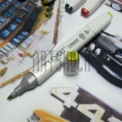 Маркер-копик TouchLiit Twin Marker, F124 fluorescent yellow, Maieart Art