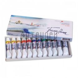 Набор акварельных красок в тубах, 12 цветов по 10 мл., в картонной коробке, Белые Ночи, ЗХК, Невская Палитра