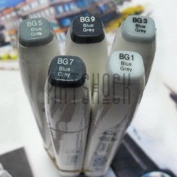 Маркер-копик TouchLiit Twin Marker, BG7 blue grey, Maieart Art