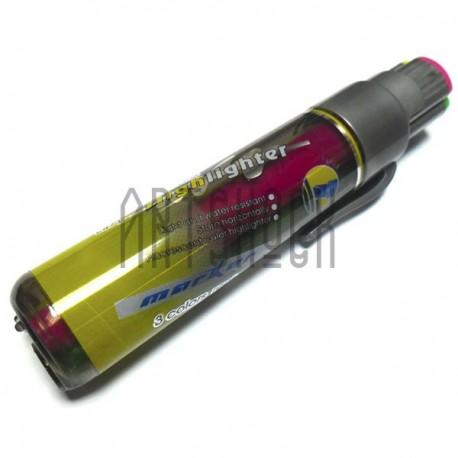Маркер Highlighter, 3 цвета (салатовый, розовый, жёлтый)