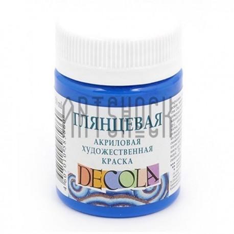 Краски глянцевые акриловые, кобальт синий, 50 мл., Decola