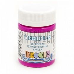 Краски глянцевые акриловые, розовая светлая, 50 мл., Decola