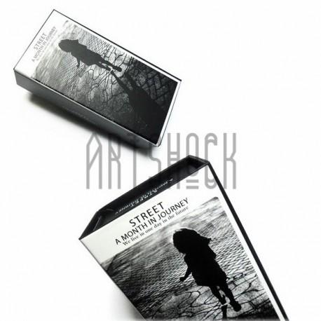 """Коробка для хранения почтовых открыток для посткроссинга """"Street a month in journey"""", 180 х 90 х 62 мм."""