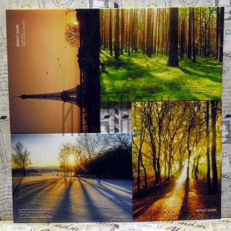 """Почтовые открытки для посткроссинга """"Brigth Dawn"""", 105 х 144 мм., 15 открыток"""