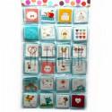 """Набор открыток """"Мультики"""" для посткроссинга, украшения букетов и цветов, 70 х 70 мм., 168 открыток"""
