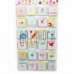 """Набор открыток """"Mini & Card"""" для посткроссинга, украшения букетов и цветов, 70 х 70 мм., 168 открыток"""