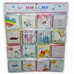 """Набор открыток """"Mini & Card"""" для посткроссинга, украшения букетов и цветов, 83 х 83 мм., 128 открыток"""