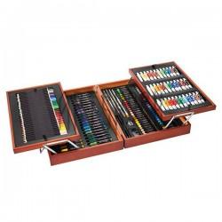 Художественный подарочный набор для рисования, 174 предмета, Künstler-Malkoffer, Crelando